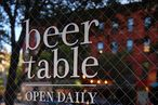 Beer Table to Offer Lunch and Brunch in Lieu of Beer (Temporarily, Anyway)