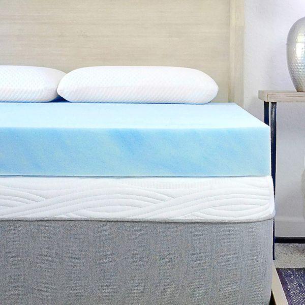 15 Best Foam Mattress Toppers 2021, King Mattress Topper On Queen Bed
