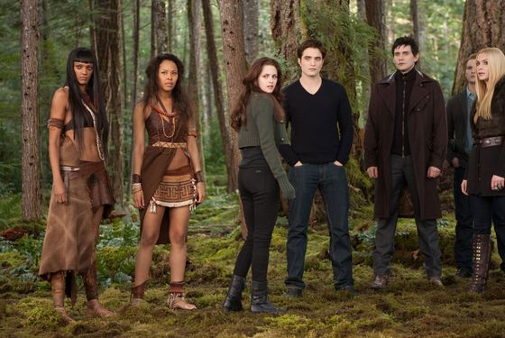 (L-R) JUDITH SHEKONI, TRACEY HEGGINS, KRISTEN STEWART, ROBERT PATTINSON, CHRISTIAN CAMARGO, PETER FACINELLI and CASEY LaBOW star in THE TWILIGHT SAGA: BREAKING DAWN-PART 2.Ph: Andrew Cooper, SMPSP© 2011 Summit Entertainment, LLC.  All rights reserved.