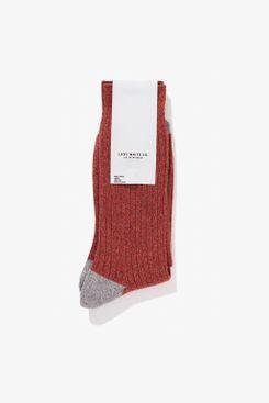 Lady White Co. Crew Sock, Red Melange