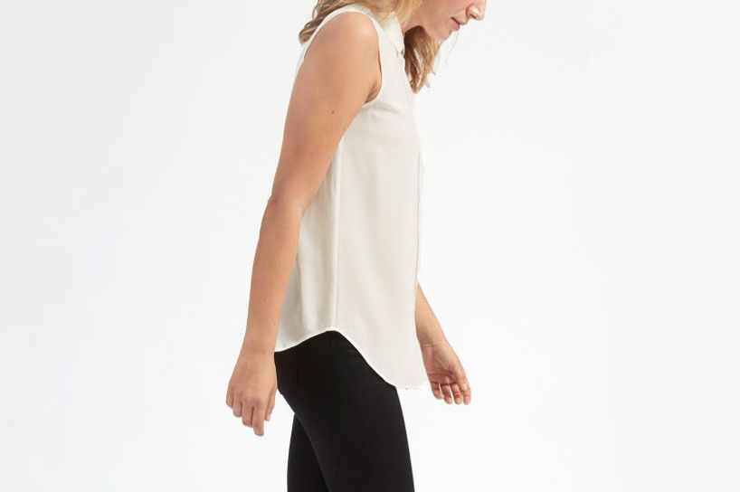 The Relaxed Silk Sleeveless