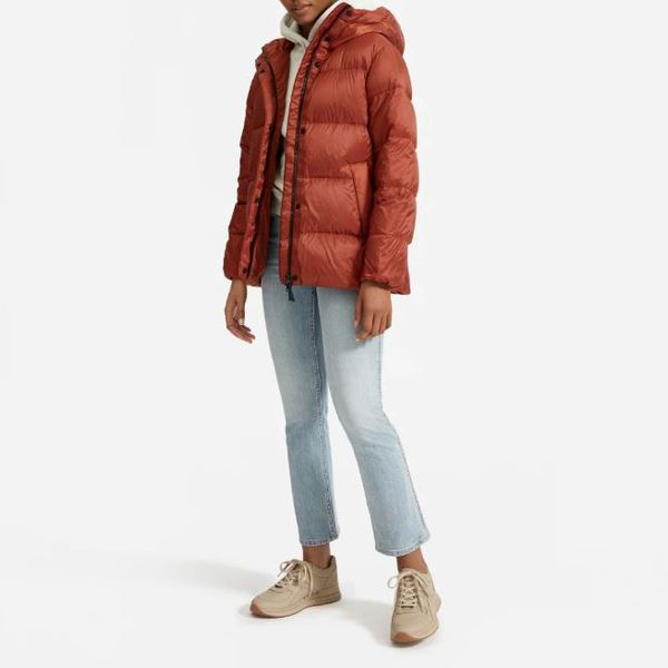 Everlane the Re:Down® Puffy Puff - strategist best everlane red goose down puffer hooded jacket
