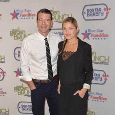 WASHINGTON, DC - MAY 03:  Scott Foley and wife Marika Dominczyk attend the 2014 Annual Garden Brunch at the Beall-Washington House on May 3, 2014 in Washington, DC.  (Photo by Andrew H. Walker/Getty Images)