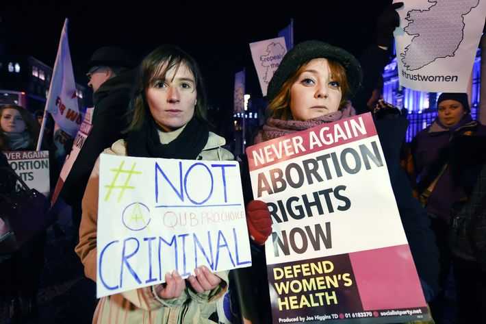 Pro-choice activists in Ireland.
