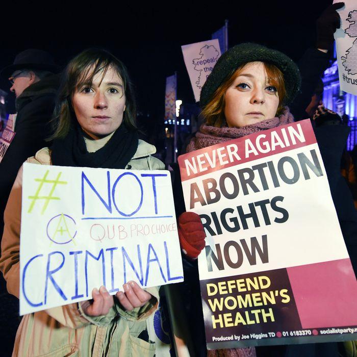 Pro-choice activists in Ireland.