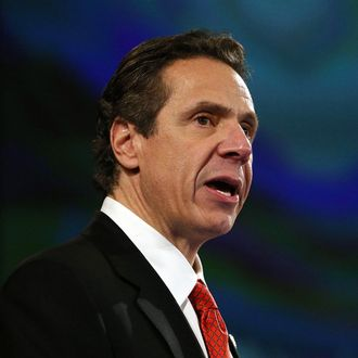 New York State Governor Andrew Cuomo gives fourth State of the State address on January 8, 2014 in Albany, New York. Among other issues touched on at the afternoon speech in the state's capital was the legalization of medical marijuana, and New York's continued economic recovery. Cuomo has been discussed as a possible Democratic candidate for the 2016 presidential race.