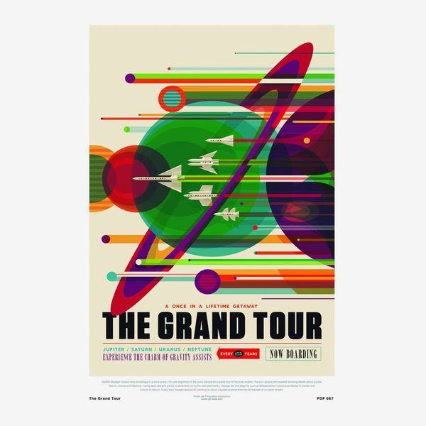 'The Grand Tour' NASA Space Exploration 30x40cm Art Poster Print