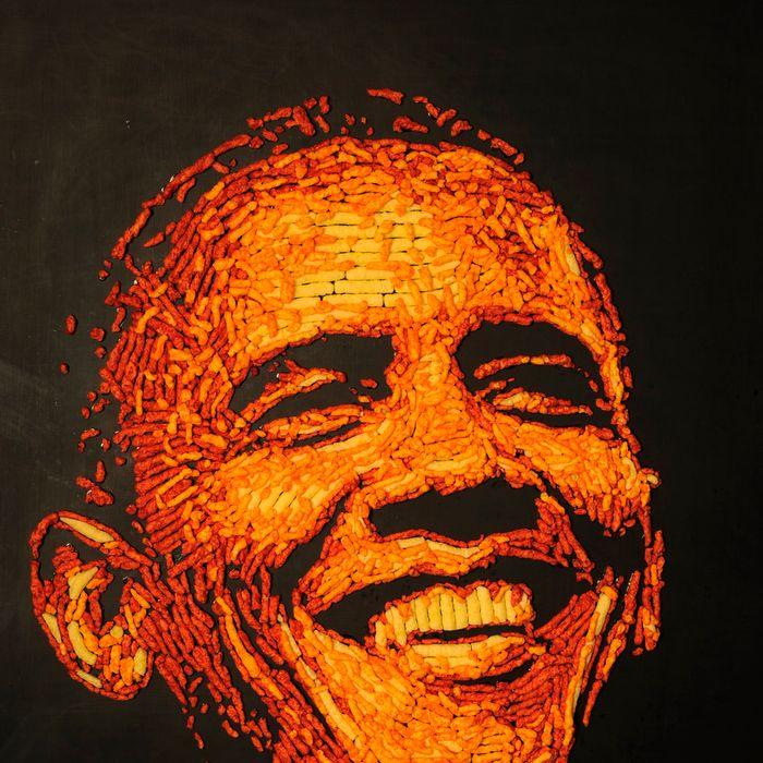 Obama, in Cheetos.