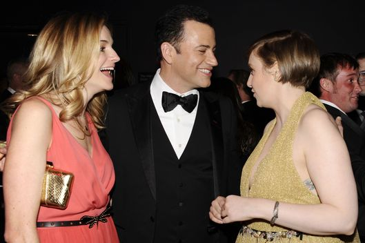 Molly McNearney, Jimmy Kimmel, Lena Dunham, Robin Dearden==TIME 100 GALA: TIME'S 100 MOST INFLUENTIAL PEOPLE IN THE WORLD==Jazz at Lincoln Center, NYC==April 23, 2013==?Patrick McMullan==Photo - CLINT SPAULDING/PatrickMcMullan.com====
