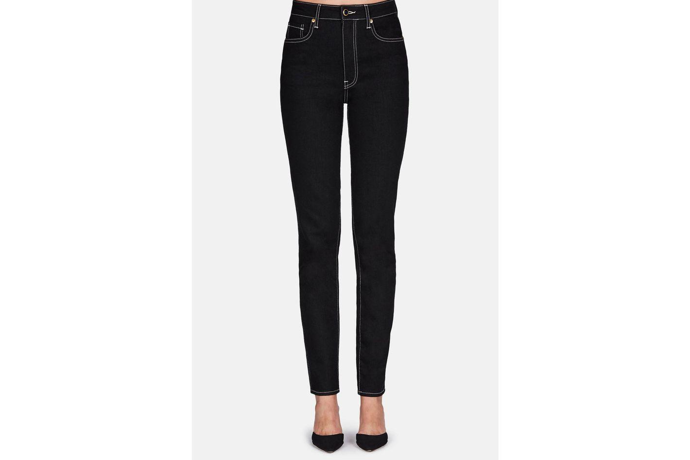 Khaite Vanessa High Rise Straight Jean