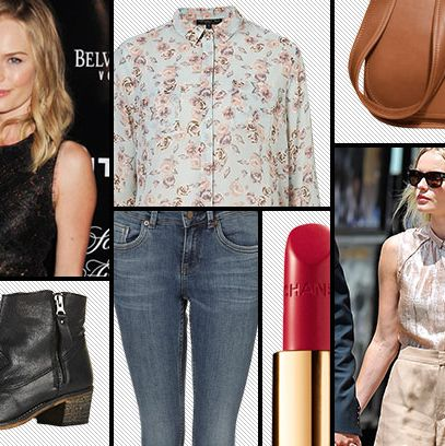 de3c524e Capsule Wardrobe: Kate Bosworth Fancies Red Lips, Ankle Boots, and a Good  Blouse