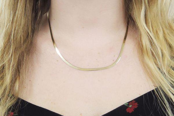 Wwake Small Rhodes Herringbone Necklace