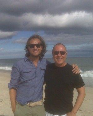 Newlyweds Lance LaPere and Michael Kors.