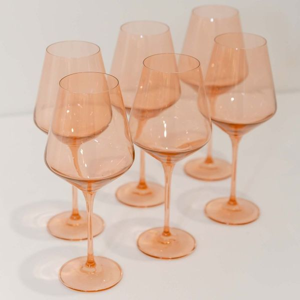 Estelle Colored Glass Stemmed Wine Glass