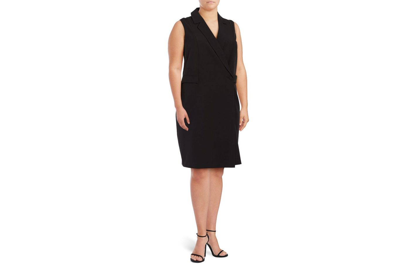 Mynt 1792 Plus Sleeveless Blazer Dress