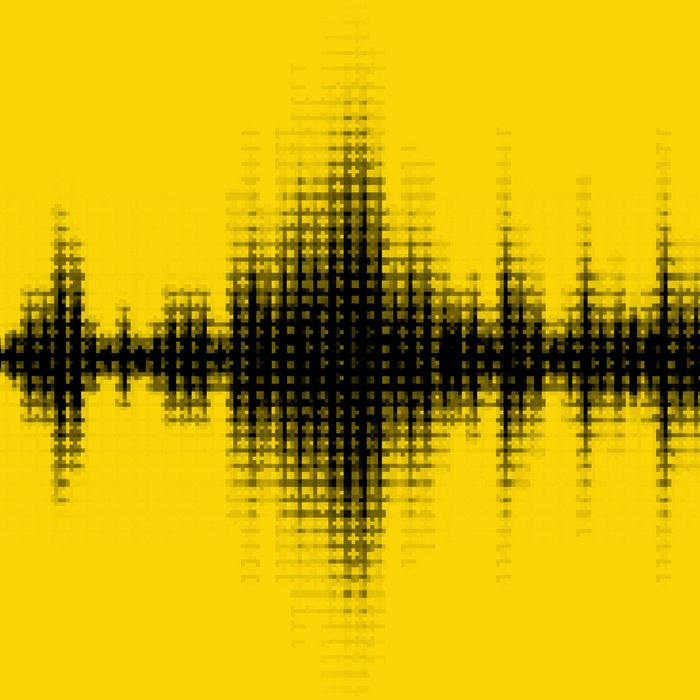 A sound wave pattern