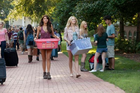 "The Vampire Diaries -- ""I Know What You Did Last Summer"" -- Image Number: VD501b_0014.jpg — Pictured (L-R): Nina Dobrev as Elena and Candice Accola as Caroline — Photo: Annette Brown/The CW -- © 2013 The CW Network, LLC. All rights reserved."