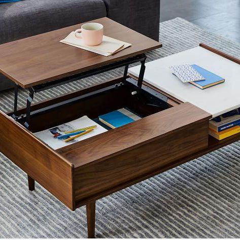 West Elm Mid-Century Pop-Up Storage Coffee Table