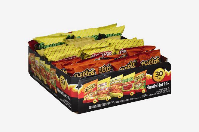 Frito Lay Flamin' Hot Mix Variety Pack, 54 Oz, 30 Ct