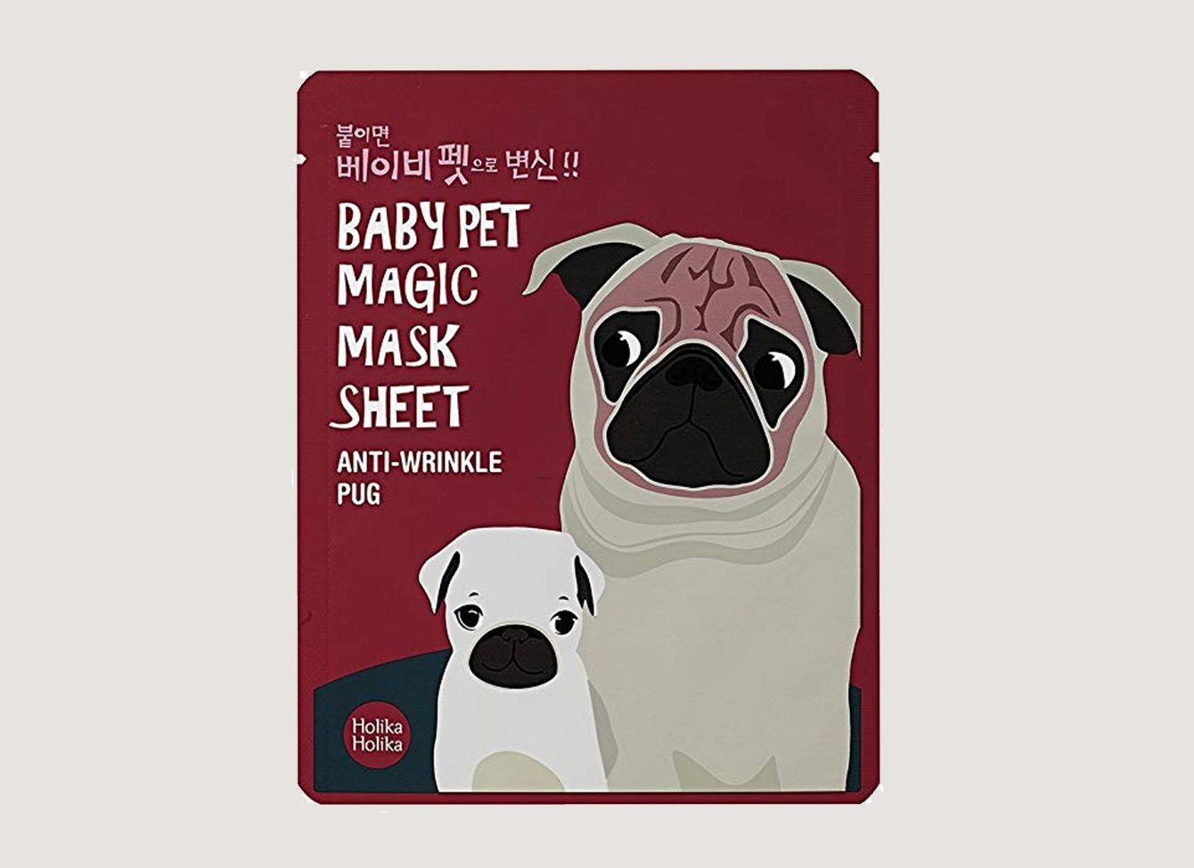 Holika Holika Baby Pet Magic Mask Sheet Anti-Wrinkle Pug (5 Sheet)