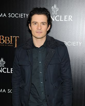 NEW YORK, NY - DECEMBER 11: Actor Orlando Bloom attends New Line Cinema and MGM Pictures' screening of