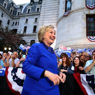 Hillary Clinton Holds Philadelphia Campaign Rally One Day Before PA Primary