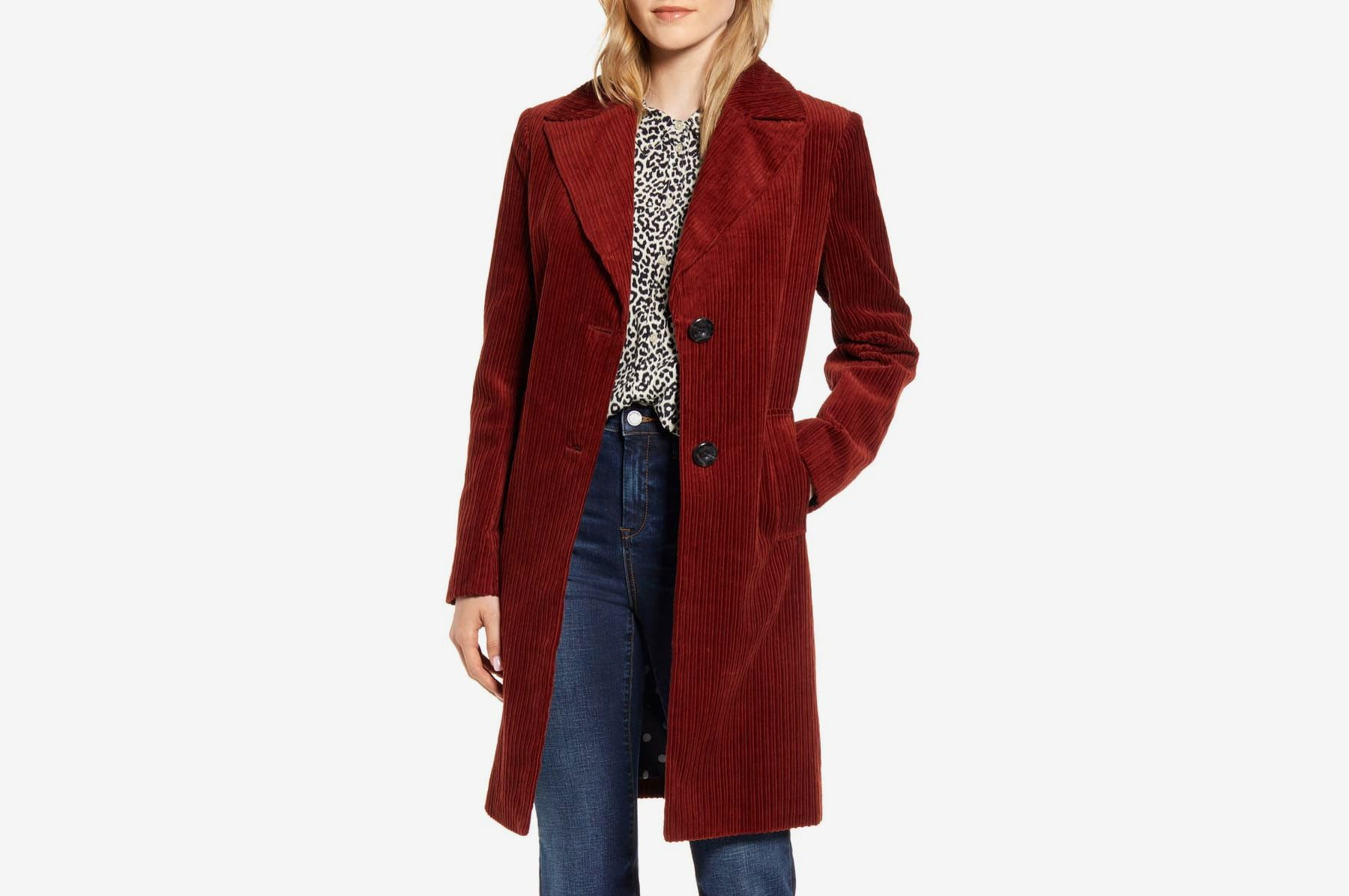 Sam Edelman Corduroy Reefer Coat