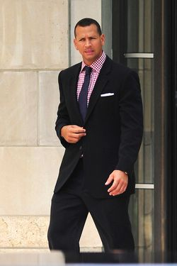Alex Rodriguez seen wearing a suit while leaving his apartment on his way to a Yankee game in New York City. <P> Pictured: Alex Rodriguez <P> <B>Ref: SPL201464  090810  </B><BR/> Picture by: Splash News<BR/> </P><P> <B>Splash News and Pictures</B><BR/> Los Angeles:310-821-2666<BR/> New York:212-619-2666<BR/> London:870-934-2666<BR/> photodesk@splashnews.com<BR/> </P>
