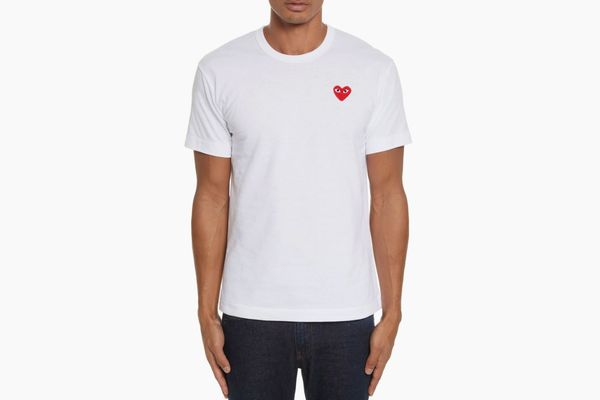 Comme des Garçons PLAY Cotton Jersey Slim Fit Crewneck T-Shirt