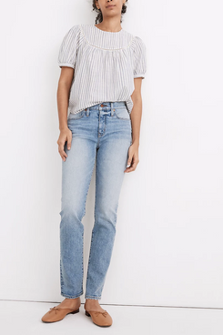 Madewell Tomboy Straight Jeans in Glover Wash