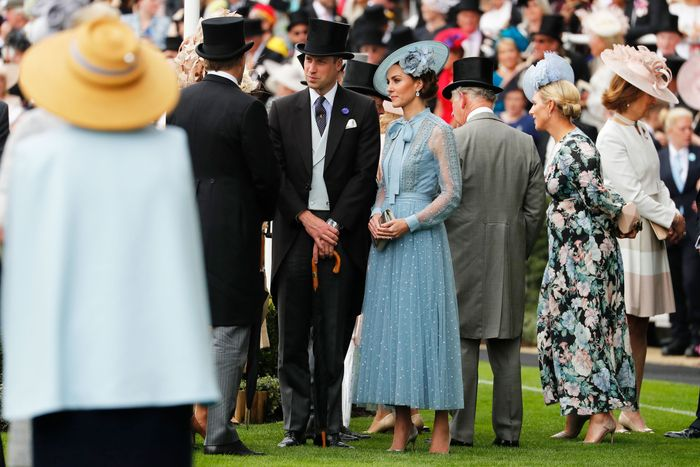 1778158db2 See Kate Middleton in Blue Elie Saab Dress At Royal Ascot