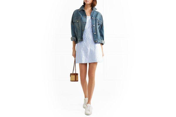 Madewell Gingham cotton-blend mini dress