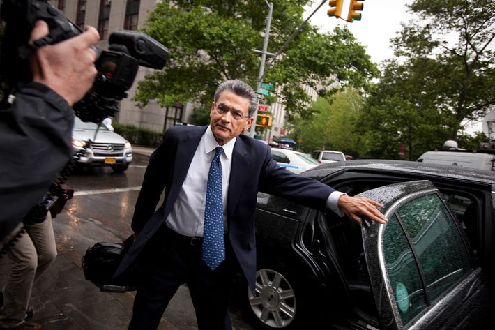 Former director and former senior partner at McKinsey & Co. Rajat Gupta arrives at federal court on for a insider trading trial June 4, 2012 in New York City.