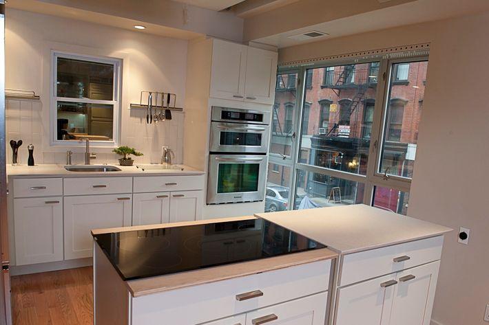 A kitchen at Jamie Tiampo's new studio space.