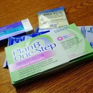 LOS ANGELES, CA - AUGUST 01: Prescription contraceptives for women sit on the counter of a drug store on August 1, 2011 in Los Angeles, California. Under new standards issued by the Obama administration, health insurers are required to cover all government-approved contraceptives for women, without co-payments or other charges. (Photo Illustration by Kevork Djansezian/Getty Images)