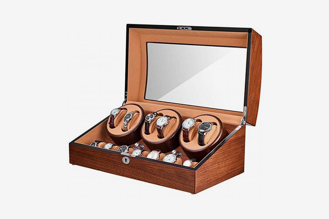 JQUEEN Six Automatic Watch Winder with 7 Extra Storages Spaces