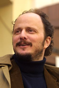"""PRAGUE, CZECH REPUBLIC - APRIL 8:  American writer Jeffrey Eugenides walks April 8, 2003 in Prague, Czech Republic. Euginedes won the Pulitzer Prize April 7, 2003 for fiction for his novel """"Middlesex."""" He is in Prague for the Prague Writer's Festival.  (Photo by Sean Gallup/Getty Images)"""