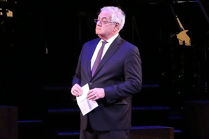 Barney Frank (R) makes his stage debut in