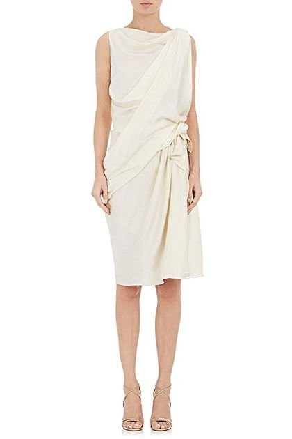 Lanvin Washed Satin Sleeveless Dress