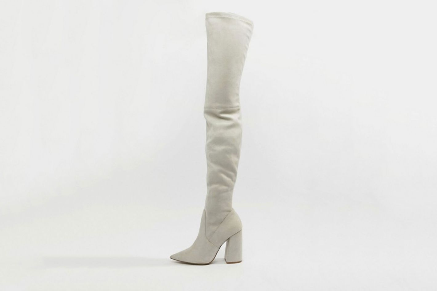 ASOS Design Kera Pointed Thigh-High Boots