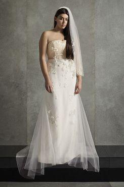 White by Vera Wang Corset Plus Size Wedding Dress