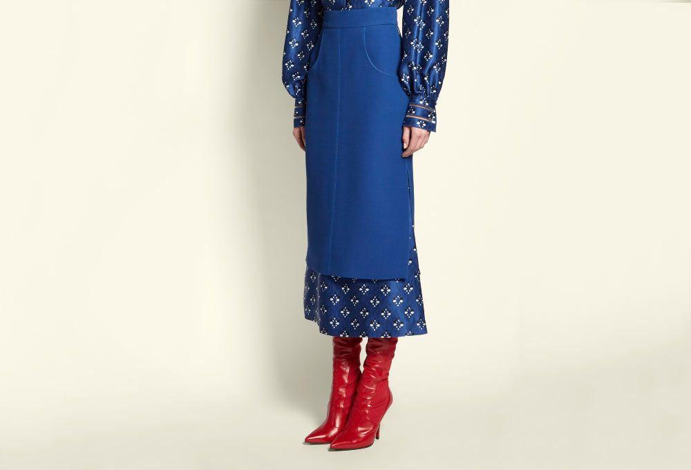 Fendi Double Layer Skirt