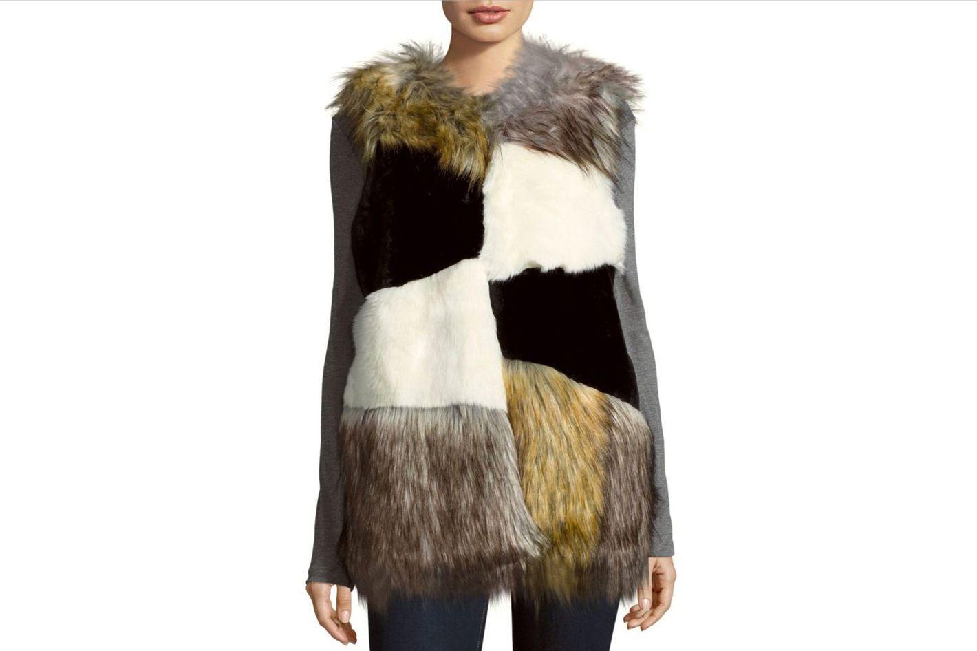 Steve Madden Faux Fur Sleeveless Vest