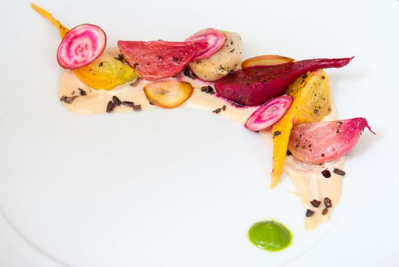 Annisa's beets with cashew puree.