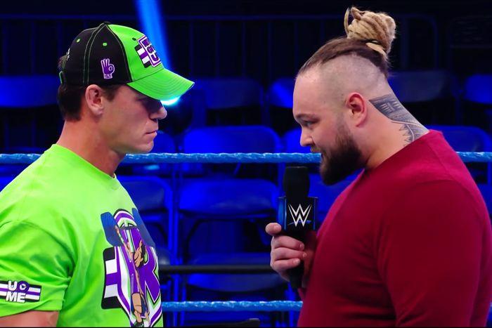 John Cena and Bray Wyatt on WWE Smackdown.