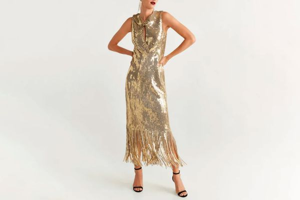Sequins fringed dress