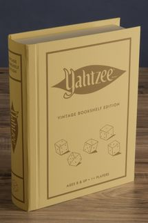Yahtzee Linen Book Vintage Edition Board Game