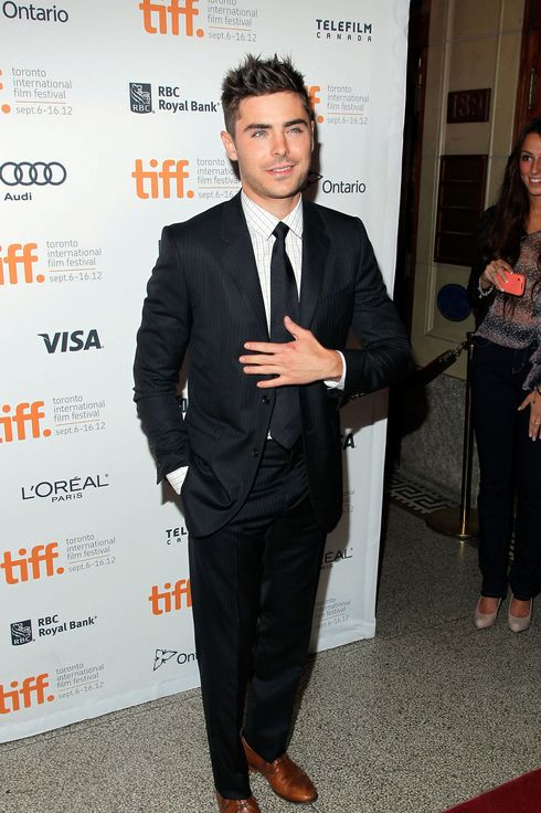 "Actor Zac Efron attends the ""The Paperboy"" premiere during the 2012 Toronto International Film Festival on September 14, 2012 in Toronto, Canada."
