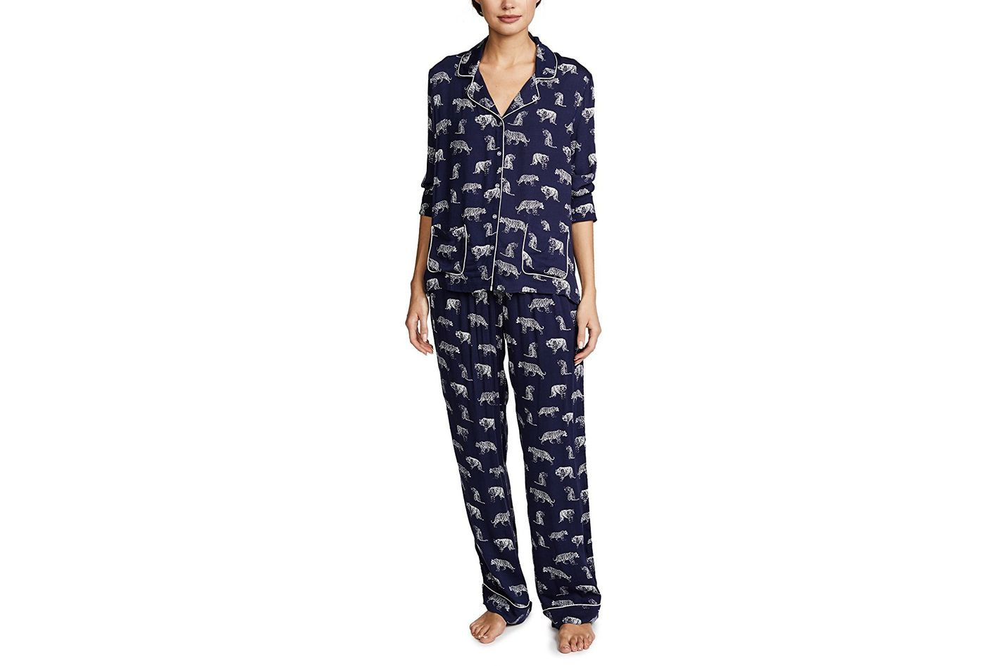 Printed Pajamas. Splendid Gentle Tiger PJ Set 4696930b2
