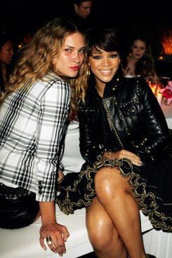 Erin Wasson and Rihanna during Gucci and Joe Zee Private Dinner Honoring Rihanna at Private Residence in Los Angeles, CA, United States.
